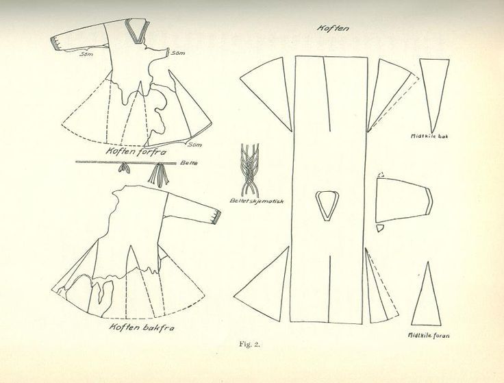 Reconstructed pattern for Skjoldehamn tunic