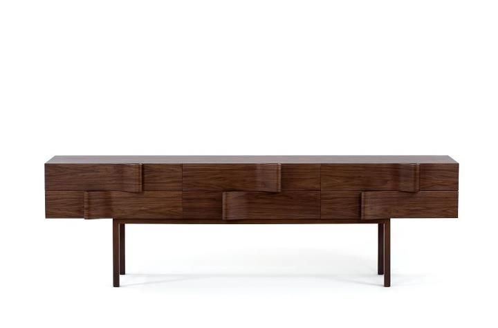 Top Brazilian architect Arthur Casas' Onda sideboard is simply wow