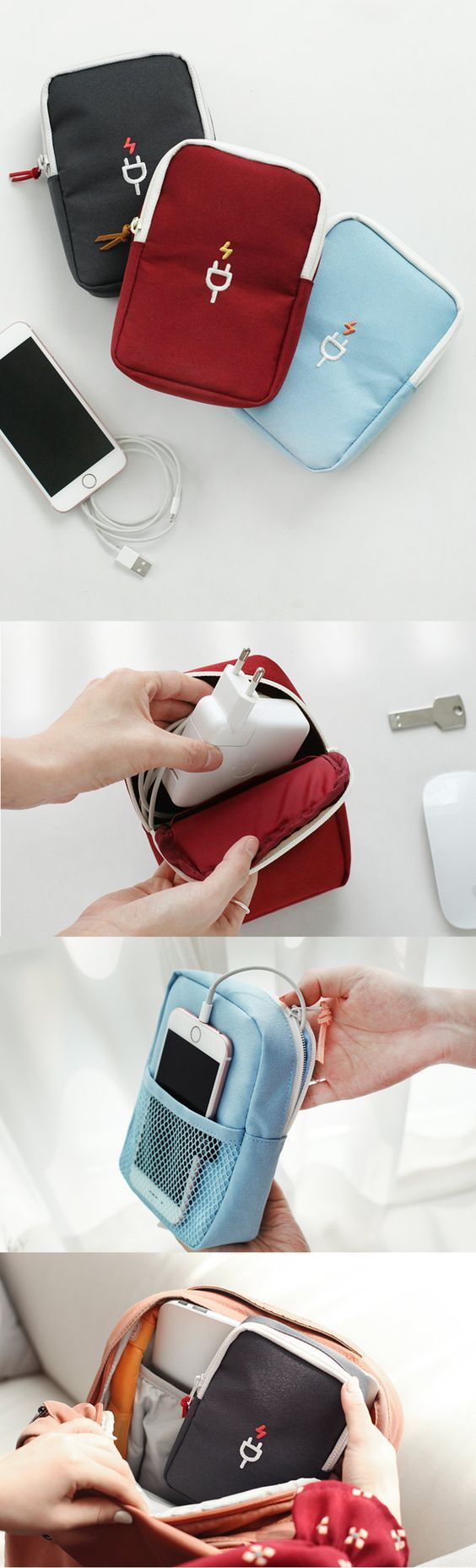 Ready? Charge! Our new Large Charger Pouch is the ideal way to protect, organize, & carry your electronics! This cute pouch is padded & large enough to carry even a bulky laptop charger! It has an inner pocket to hold your USB drive, camera, or a slim mouse. You can store small items like your phone or earbuds in the mesh back pocket. It fits up to an iPhone 6 Plus! What are you waiting for? Check out all 3 styles of this portable pouch & take it with you for travel, school, work, or daily…
