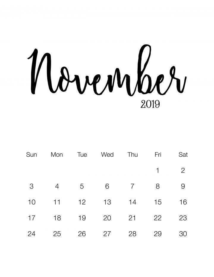 Fabulous And Free Printable 2019 Minimalistic Calendar Kostenlose