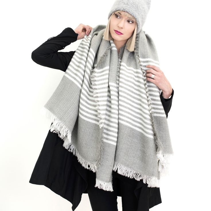 Cosy blanket scarf, ideal for cold days. #scarf #blanket Szaleo.pl | Fashion & Accessories
