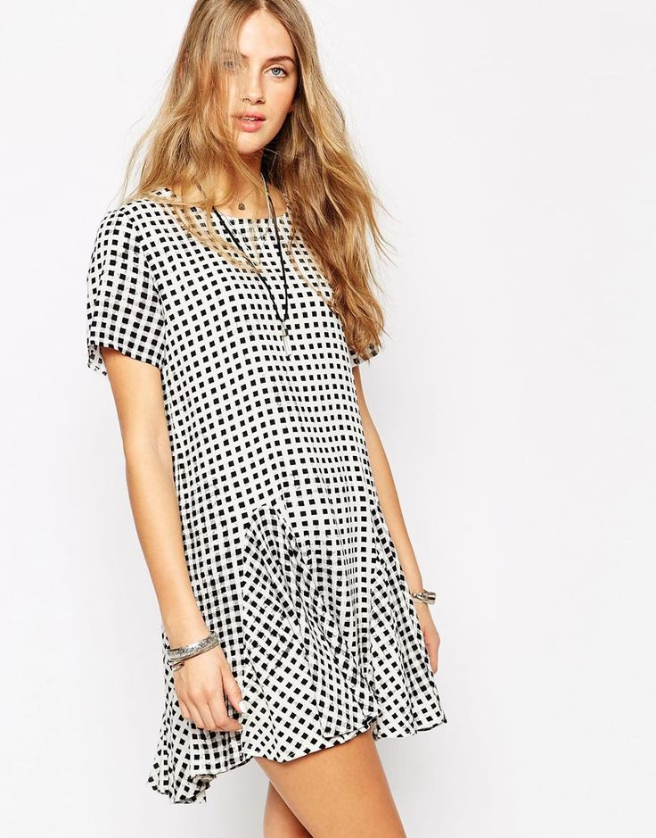 Minkpink Gingham Godet Dress