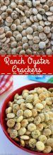 Ranch Oyster Crackers- Simple to make. Perfect for feeding a crowd, great in lunch boxes, or for a movie night snack idea.