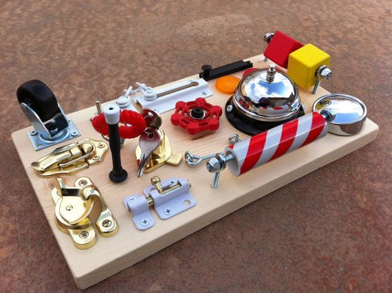 pintrist - busy board | Deluxe Busy Board RingALing or LockAndKey by ... | Stuff for my babies
