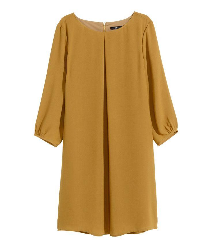 Mustard Colored Dress, Fall Dress