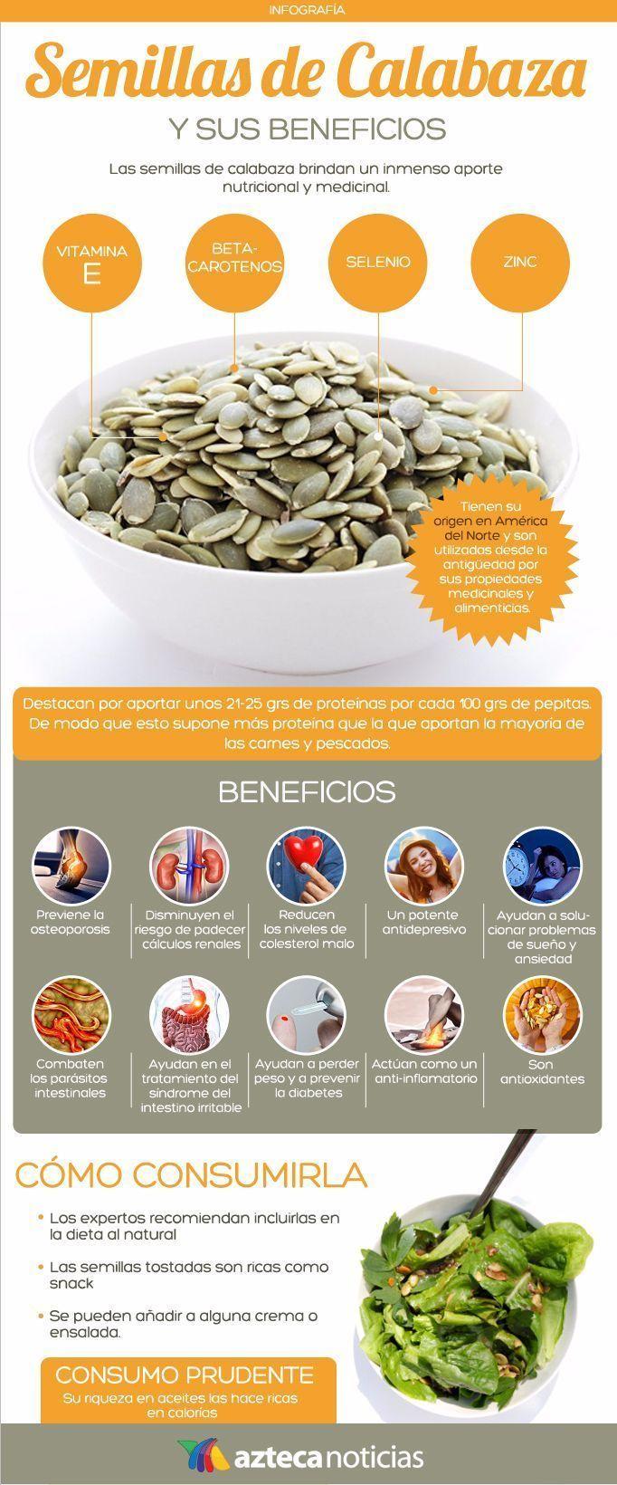 Pipas de calabaza: beneficios y propiedades nutricionales                                                                                                                                                                                 Más #nutricionysalud