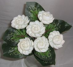 Seashell Crafts | White cay cay shell seashell crafts flowers - Ocean Blooms Now