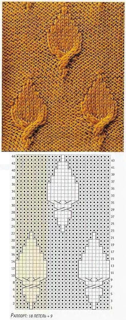 interesting little Russian pattern. I'd go over it after knitting with a tapestry needle, start at the bottom of the twisted bottom edge of the leaf, and add a few Stem Stitch embroidery stitches to make the stem look a little more finishe.
