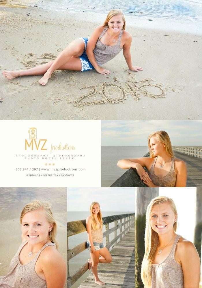 mvzproductions.com Delaware Beach Senior Photographer. Lewes Beach, DE Senior Beach Style. Senior pictures on the beach.