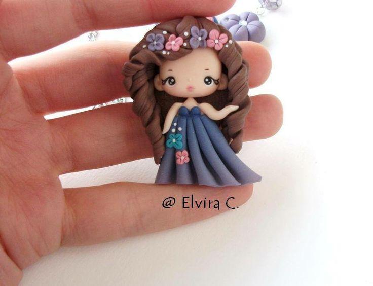 Muñeca con pasta polymer clay