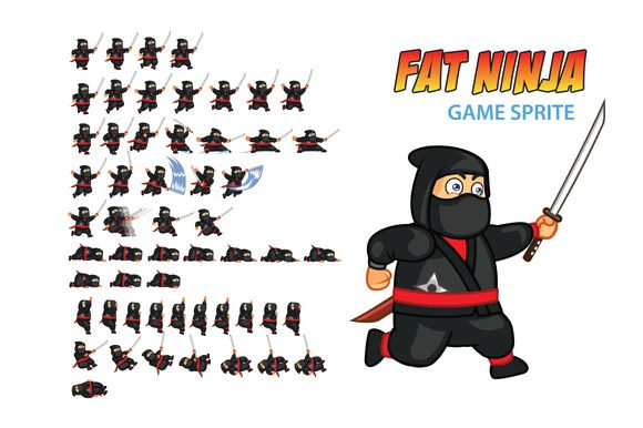 Fat Ninja Game Sprite by Gagu on Creative Market