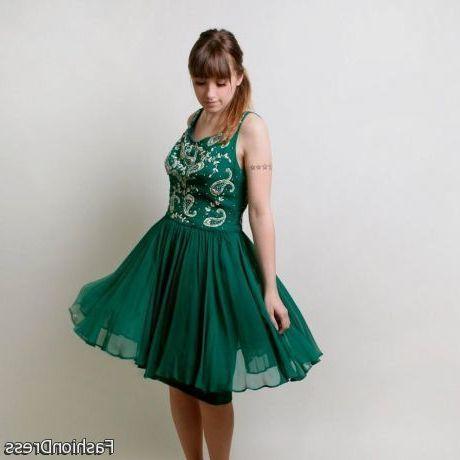 Green christmas cocktail dress 2018