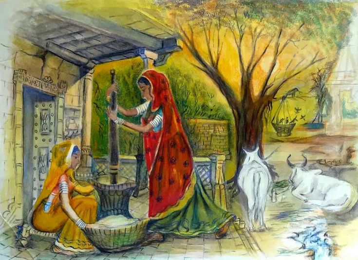 157 best mural examples for village life in india images for Examples of mural painting