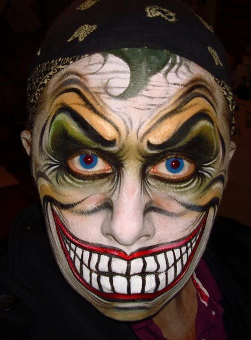 30 Creative Face Painting Art Collection | Joker Face Paint Creepy Clown Makeup And Halloween ...