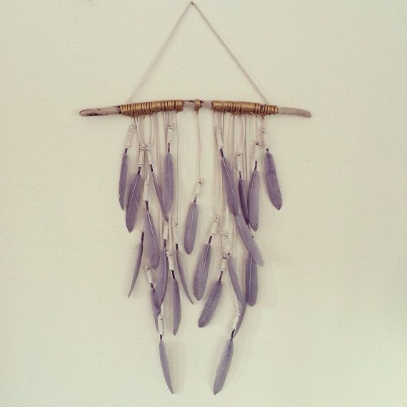 Feather Wall Hanging 'Grey Riders' by kristenleighbaker on Etsy, $175.00
