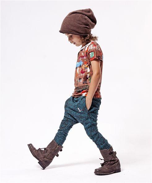 drop waist boys pants / trousers