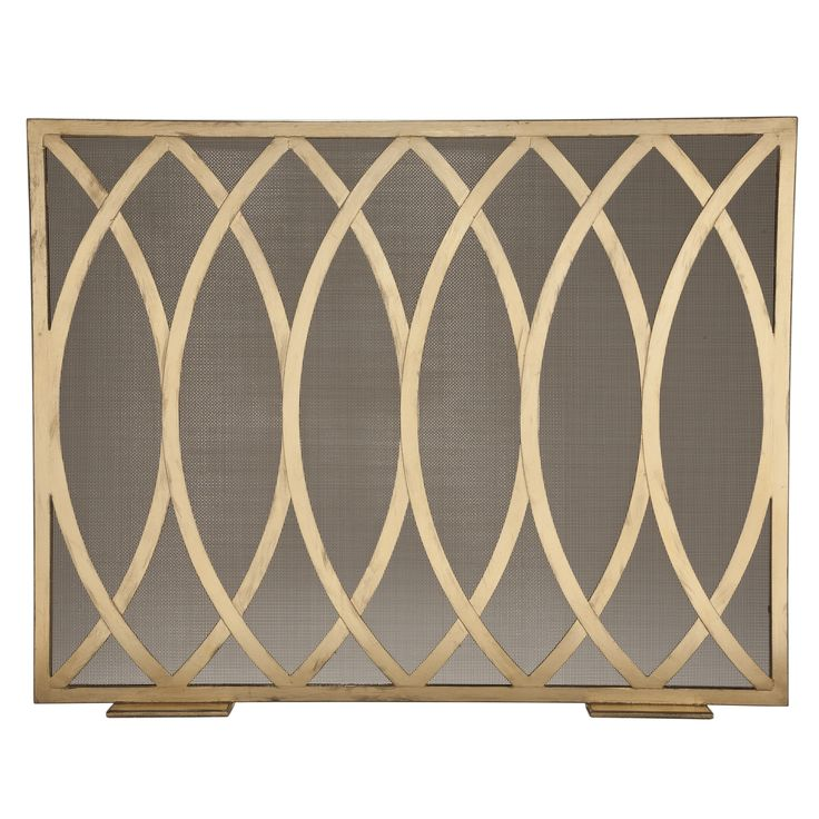 Buy Verlaine Fire Screen by Niermann Weeks - Made-to-Order designer Accessories from Dering Hall's collection of Traditional Transitional Fireplace Mantels & Accessories.