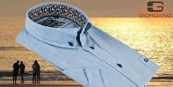 Warme zomerdagen? Kleed je lekker luchtig! #Giordano Regular #Fit - korte mouw - 100% #katoen. Nu extra voordelig!