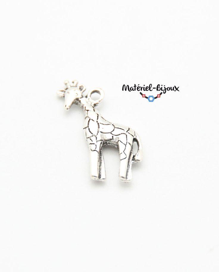 une breloque girafe, un apprêt incontournable pour créer des bijoux fantaisie