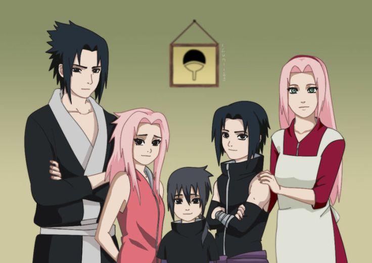 naruto : sasuke uchiha & sakura haruno family