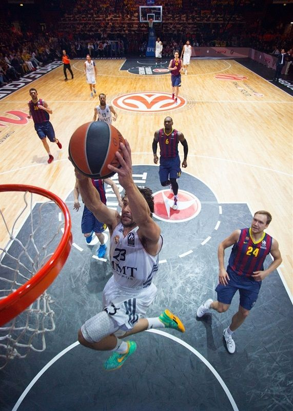 Sergio Llull, basketball player of Real Madrid Baloncesto was wearing Nike Kobe 8 Green Glow during Euroleague semifinal match against Barcelona Baloncesto 16.5.2014