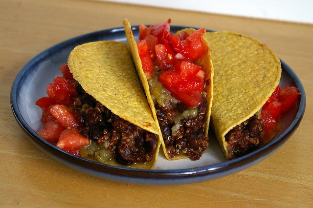 quinoa and black beans vegan tacos Ingredients - 1 can black beans ...