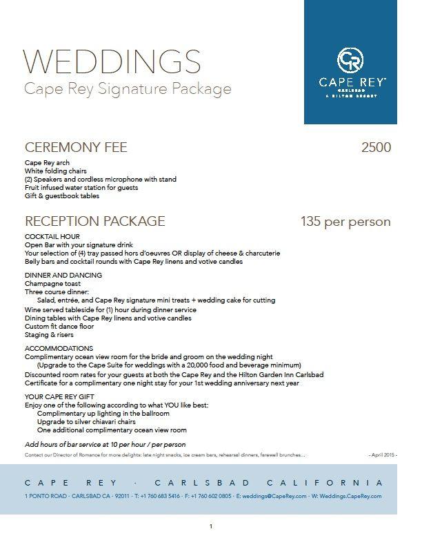 San Diego Venue Pricing Lists Cape Rey Carlsbad Wedding Venue Prices San Diego Wedding Venues Wedding Venues