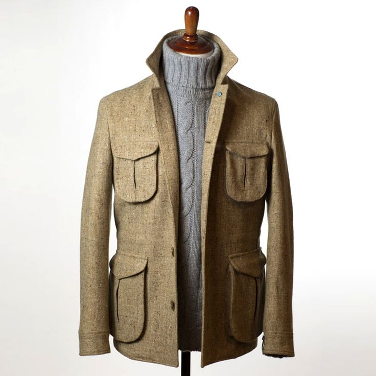 nomanwalksalone:  Eidos field jacket in Molloy & Sons donegal tweedScott & Charters 6-plys cashmere sweater