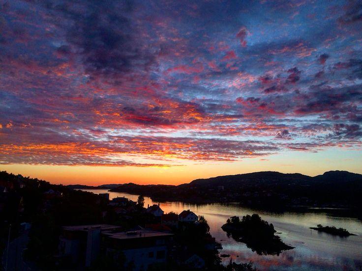 House view Eidsvåg Bergen Norway