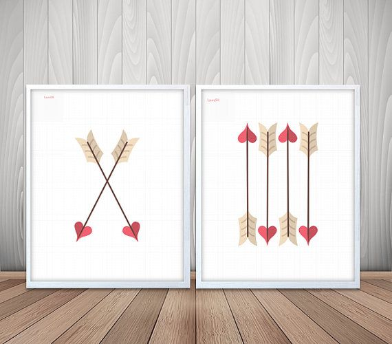 poster flechas, láminas flechas, laminas amor, laminas imprimibles, poster A3…