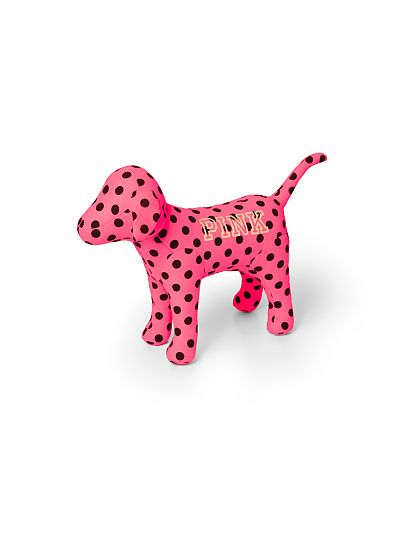 NEW! Large PINK Dog. WANT IN PINK POLKA DOT & LEOPARD SO BAD !!