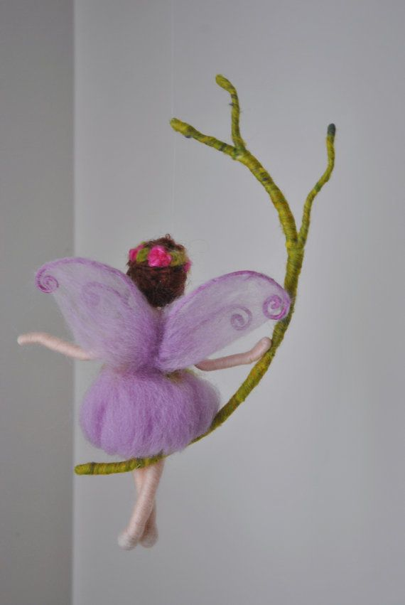 Wall Hanging Butterfly Fairy Waldorf inspired Room Decoration