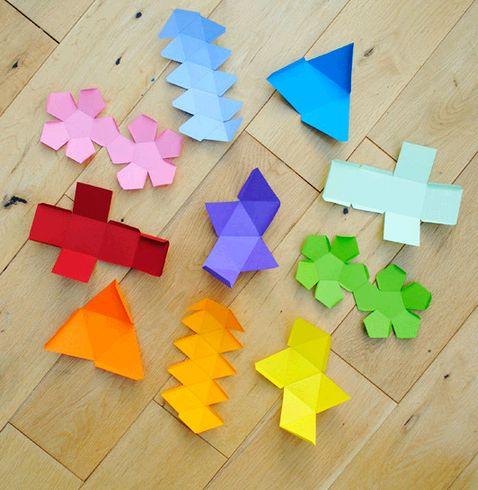 Оригами -объемные геометрические фигуры из бумаги для ...