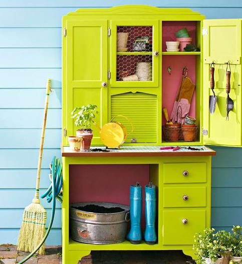 Old China Cabinet, New Mini Garden Shed