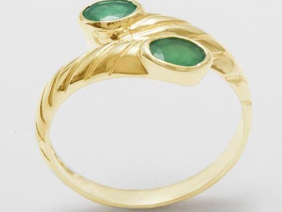 Rose or White Gold or Platinum Customizable 9K,10K,14K,18K High Quality 18k Rose Gold Natural Peridot womens Band Ring Yellow
