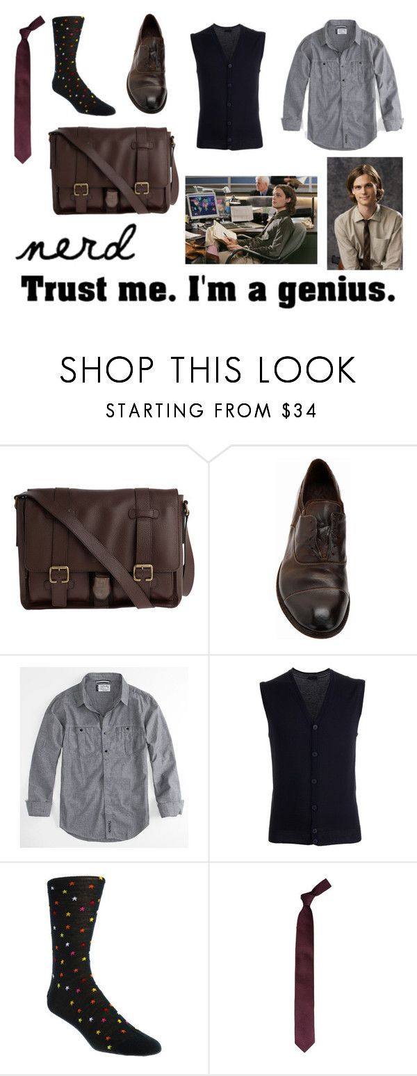 """""""Spencer Reid Inspired Outfit"""" by misssenu ❤ liked on Polyvore featuring Raf Simons, Officine Creative, Ezekiel, Paolo Pecora, Richard James and damaged"""