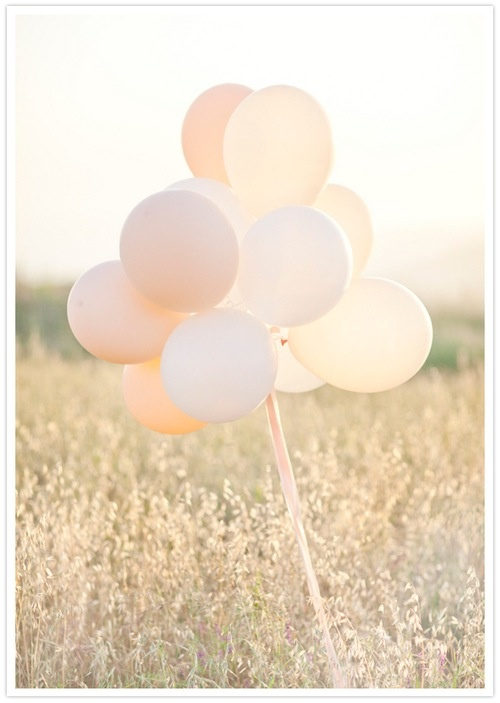 Peaches and Cream wedding balloons