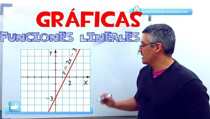 UD 9 EJERCICIO 3 Representación gráfica funciones lineales y afines. Aprende matemáticas.