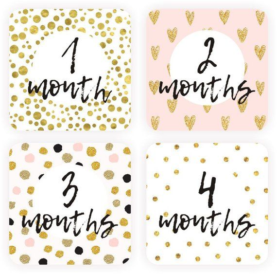 Baby <b>girl</b> milestone cards printable - <b>1-12</b> month cards | картинки ...