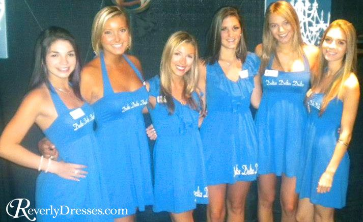 Tri Delta sorority recruitment dresses by Revelry!  Adorable and affordable!! Group order discounts available.  RevelryDresses.com