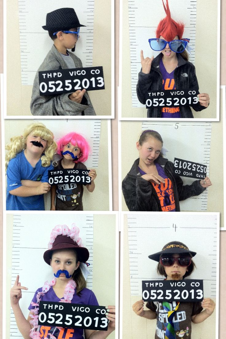 Photo Booth Idea for Birthdays, Retirement or Graduations. We took 2 poster boards (should've used 3 to allow for the littler kids) and marked the accurate heights. Took black scrapbook paper and cut out letters and numbers with the Cricut. (The numbers reflected the date.) had allot of wigs, glasses, hats, & mustaches for dress up. Kids of ALL AGES had such a great time.