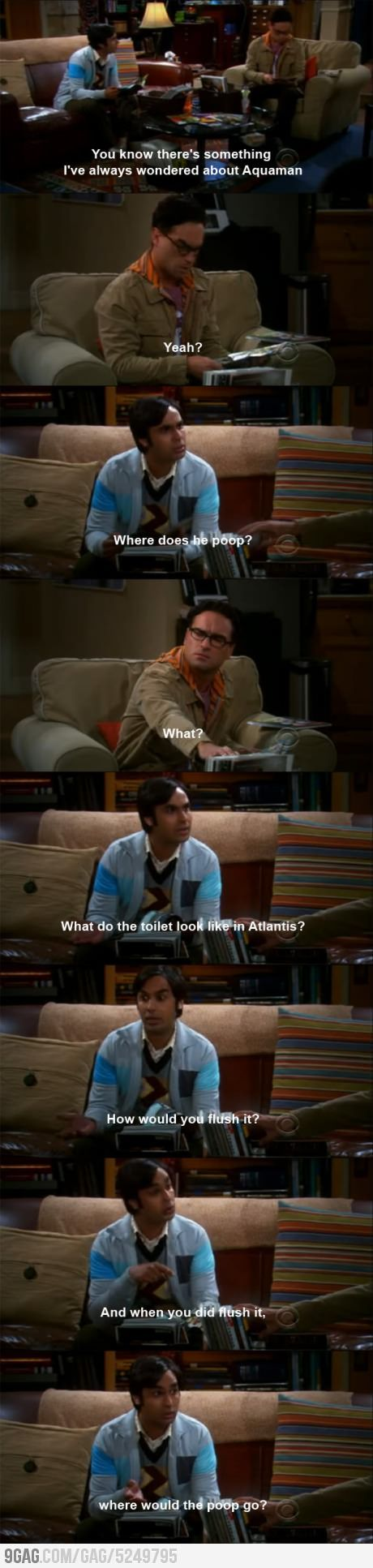 Big Bang Theory. Raj asks the best questions ever!