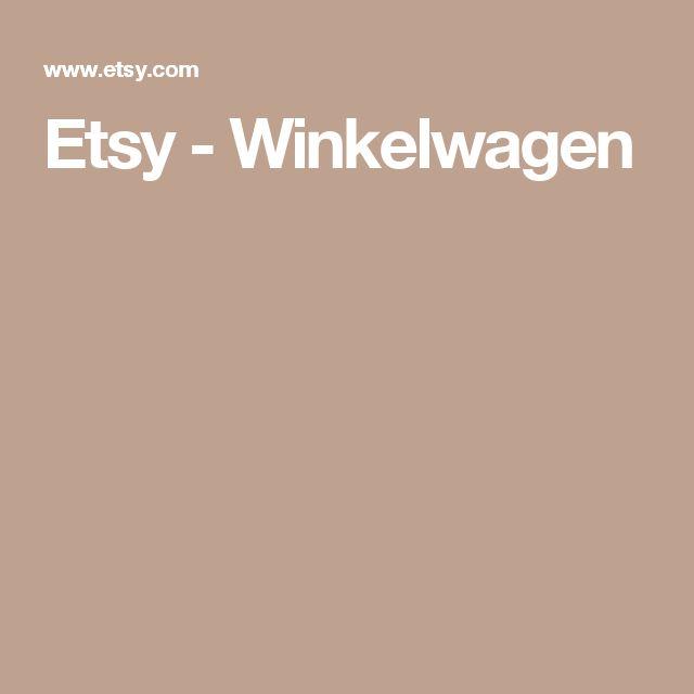 Etsy - Winkelwagen