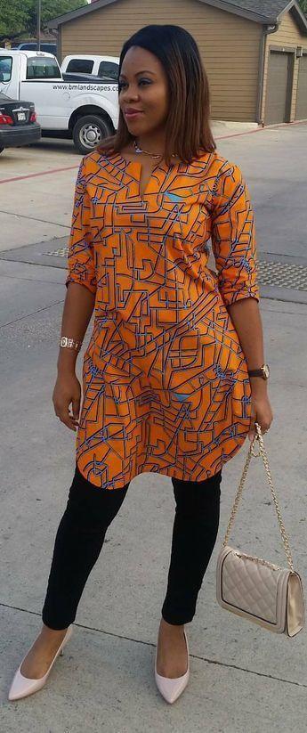 Afrikanisches Printoberteil, Afrikanische Mode, An…