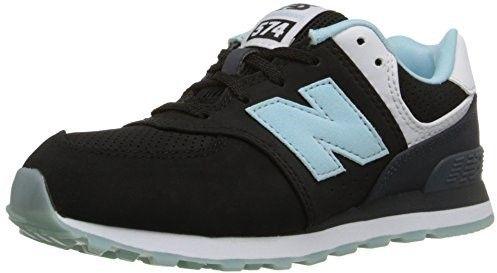 New Balance KL574BXP: 574 State Fair Little Kids Sneakers (11.5 W US Little Kid, Black Turquoise White)
