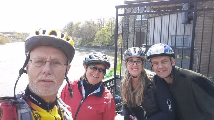 Spring #cycling has started! Stopping for a smile break :)