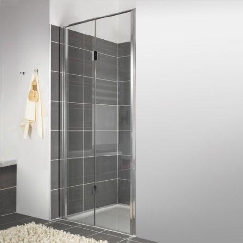 Duscholux Bella Vita Nova vouwdeur voor nis 90x200cm rechts platinum helder - 341117022551062 - Sanitairwinkel.be