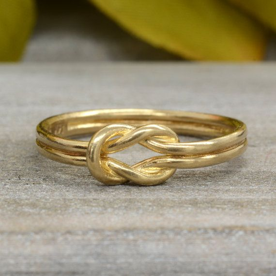 DOUBLE Knotted Ring Sailors Knot Ring 14k Love Knot by agildedleaf