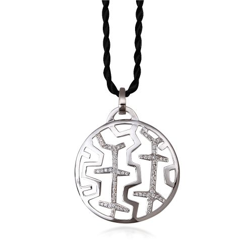 Entasis pendant in 18KT white gold with diamonds