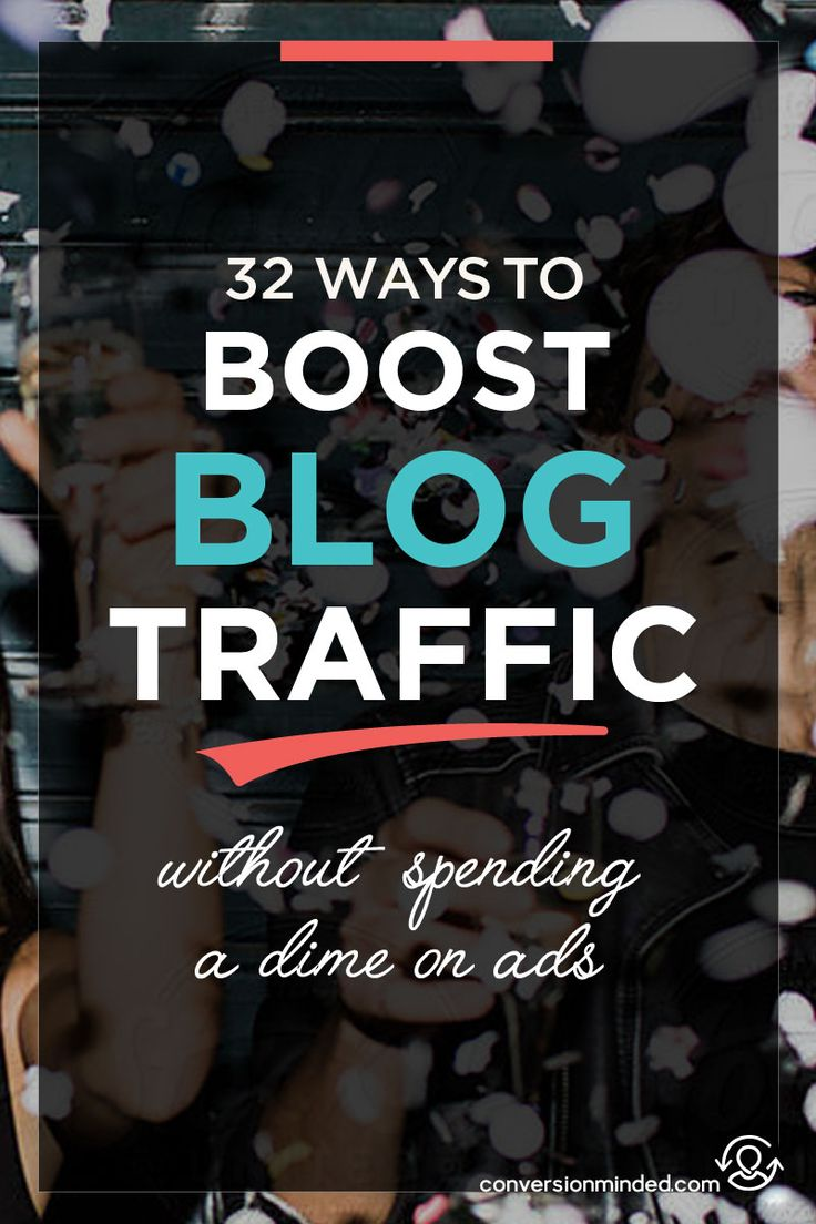 32 Insanely Easy Ways to Boost Your Blog Traffic for Free | If you're ready to market your blog and grow your audience, but don't know where to start, this post is for you! It includes 32 ways bloggers and entrepreneurs can promote your posts to make sure work is found by more people. Click through to see all the steps!
